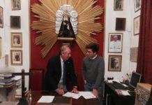 Firma de contrato banda de los palacios
